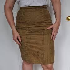 <b>Genuine Leather</b> Snake Skin <b>Print Skirt</b> tag says... - Depop