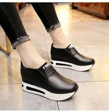 2019 <b>Women</b> Vulcanized <b>Shoes</b> Wedge Platform Sneakers <b>Women</b> ...