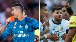 Who has more red cards in their career: <b>Lionel Messi</b> or Cristiano ...