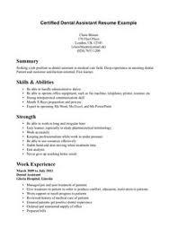 dental assistant resume skills   resume   pinterest   dental    dental assistant resume