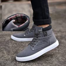 Hot <b>Large Size</b> Spring <b>Autumn</b> Letters Casual <b>Men's</b> Canvas Ankle ...