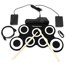 Hand Roll USB <b>Electronic Drum Portable Folded</b> Silicone Practice ...