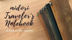 [Midori] <b>Traveler's Notebook</b> - A closer look at the <b>leather</b> - YouTube