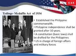 「Tydings–McDuffie Act」の画像検索結果