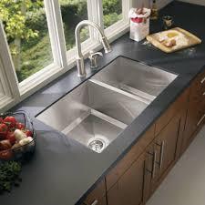 undermount kitchen sink stainless steel: moen  series undermount stainless steel  in double bowl kitchen sink g the home depot