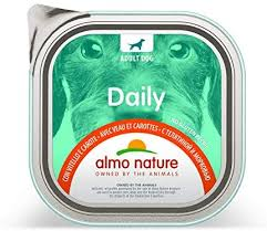 <b>almo nature Daily Dog</b> Food, 300 g, Veal and Carrots, Pack of 9 ...