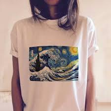 Women Summer Fashion Tumblr <b>Tops Streetwear</b> White Gray Black ...