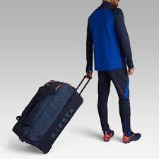KIPSTA <b>Classic</b> 105 Litre Sports Roller Bag - <b>Blue</b>/<b>Orange</b>...