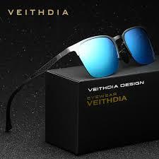 <b>VEITHDIA Unisex Retro Aluminum</b> Magnesium Brand Sunglasses ...