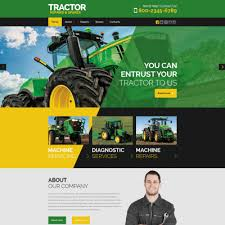 Web Site Templates   Web Page Templates TemplateMonster Tractor Maintenance Website Template