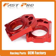 <b>CNC Rear Chain Adjuster</b> Red Axle Block For CR125R CR250R 02 ...