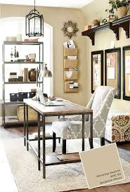 home office with ballard designs furnishings benjamin moore wheeling neutral paint color brightly colored offices central st