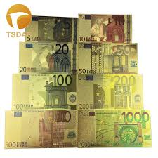 <b>Free Shipping</b> 8Pcs <b>Color</b> Euro <b>Banknotes</b> Set, <b>Colored</b> 5 1000 ...