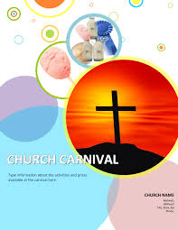 church carnival flyer templates using microsoft office 1 word bubbles church carnival template