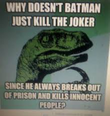 duhrrr i dont know philosphoraptor maybe because batman feels responsible fuck that batman would be saving way more than lives if he ends one batman iron man fanboy