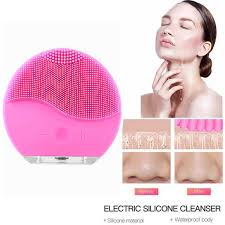 <b>Electric Facial</b> Cleansing Brush <b>Silicone Face</b> Massage Sonic ...