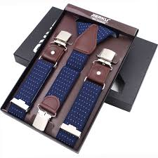 <b>New Man's Suspenders</b> 3 Clips Leather Braces Casual ...