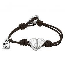 """Кожаный <b>браслет</b> c посеребренным сердцем <b>UNOde50</b> """"<b>Cupid</b>"""""""