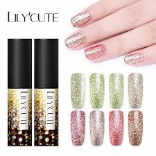 <b>LILYCUTE 5ml</b> Gel Nail Polish Shiny Platinum Nails Art For ...