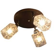 <b>люстра потолочная CAIMAN</b> Somi 3x60Вт E14 стекло,металл ...