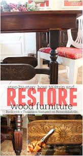 Restaining Kitchen Table 17 Best Ideas About Refinishing Wood Tables On Pinterest
