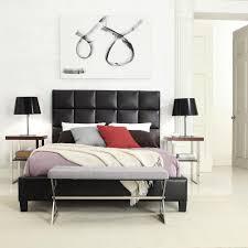 piece emmaline upholstered panel bedroom: homesullivan king upholstered platform bed in deep brown bwabed