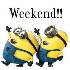 Afbeeldingsresultaat voor happy weekend minions