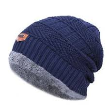1Pc Men Knitted Hat Winter Soft Fluffy Breathable <b>Folding</b> Windproof ...
