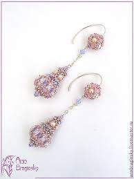 Серьги `Розовые капли`. Серьги сделаны на заказ к свадебному ...