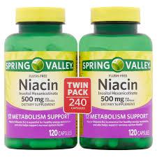 Spring Valley <b>Flush</b>-<b>Free Niacin</b> Inositol Hexanicotinate Capsules ...