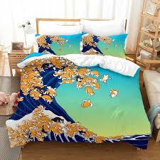 3D Printed Ukiyo-e Husky <b>Shiba Inu Pattern</b> Classical Bedding Set ...