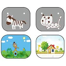 Amazon.com: Ocamo <b>1 Pair Baby</b> Cartoon Car Sunshade Pad ...