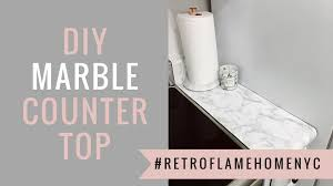 My <b>DIY</b> Marble Countertops - <b>New</b> York Apartment - <b>Retro</b> Flame