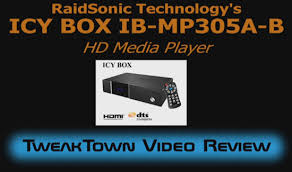 RaidSonic <b>Icy</b> Box IB-MP305A-B Network Multimedia <b>HD</b> Player ...