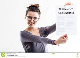 permanent job contract means future stock photo image  permanent job contract means future