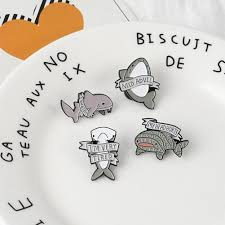 Brooches & Pins Cartoon Shark Brooch Animal Protection <b>Activity</b> ...