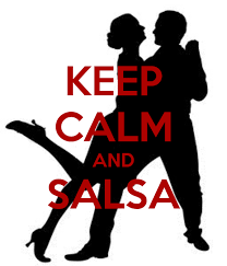My new way of centering myself .. Keep Calm and Salsa