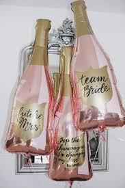 36-inch Rose Gold Champagne Bottle <b>Balloon</b>. <b>Team Bride</b>. Future ...
