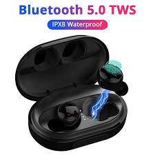 IPX8 Waterproof <b>TWS</b> Bluetooth <b>Earphone</b> For iPhone X XS 7 8 6 ...