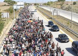 crimethinc the syrian underground railroad migrant solidarity syrian refugees along the highway towards the greek border in 2015