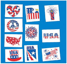 "<b>Patriotic Temporary</b> Tattoos low as $0.07 each & <b>24</b>"" Red, White ..."