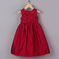 new design baby girl dress top grade red flower princess girls dresses for kids wear gd40918 baby girl dress designs