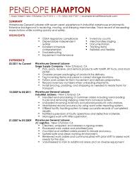 warehouse resume template cipanewsletter resume resume examples for warehouse