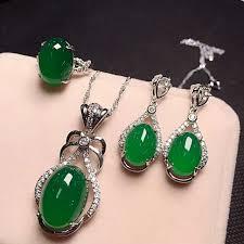 <b>Yu Xin Yuan Fine</b> Jewelry 925 Silver Inlaid With Natural Green ...