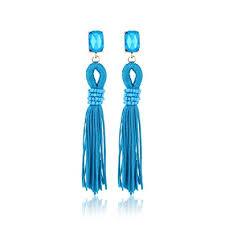 Fasherati Turquoise Blue <b>Bohemian</b> style <b>Crystal</b> With <b>Long Tassels</b> ...