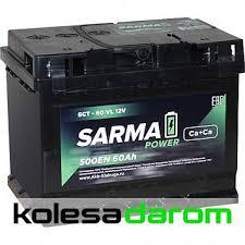 """Купить аккумулятор легковой """"<b>САРМА</b>"""" <b>6ст</b> (60 Ач п/п) в Самаре ..."""