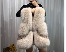 <b>Fox</b> fur leather <b>coat</b>   Etsy