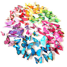 Magnet Pin Sticker Butterfly <b>Wall</b> Stickers 3D Butterflies <b>Colorful</b> ...