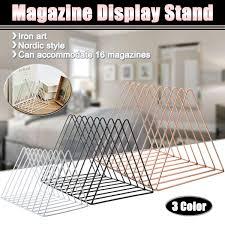 <b>Iron Bookshelf Magazine Display</b> Stand Newspapers Storage Rack ...