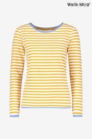 Buy <b>Women's</b> tops Tops <b>Stripe Stripe Yellow Yellow</b> from the Next ...